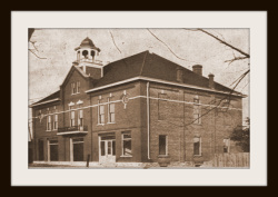 The Barron county Bank, the first in the county, was opened in Rice Lake in 1882