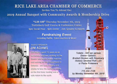 2019 Annual Banquet Invite Rice Lake, WI