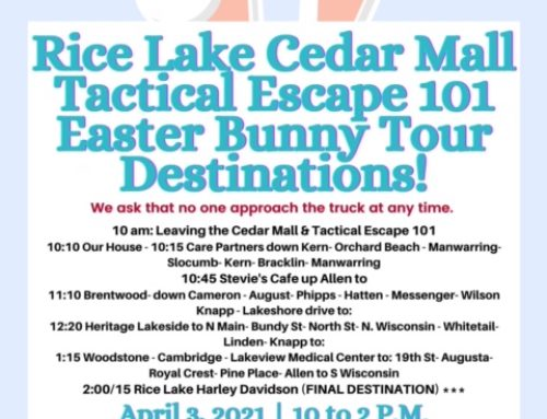 2021 Easter Bunny Tour Around Town