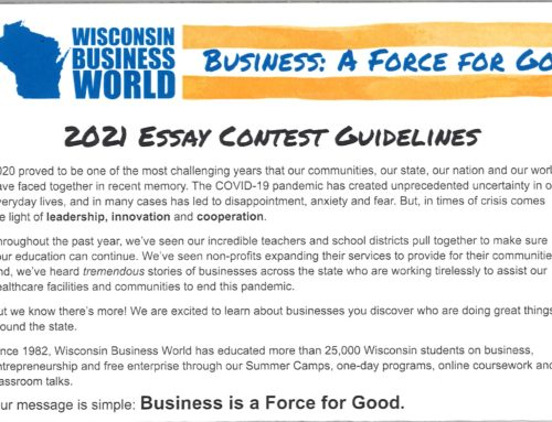 Business: A Force for Good Essay Contest